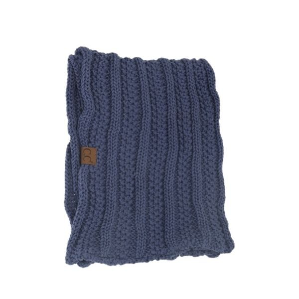 CC Beanie Denim Ribbed Scarf